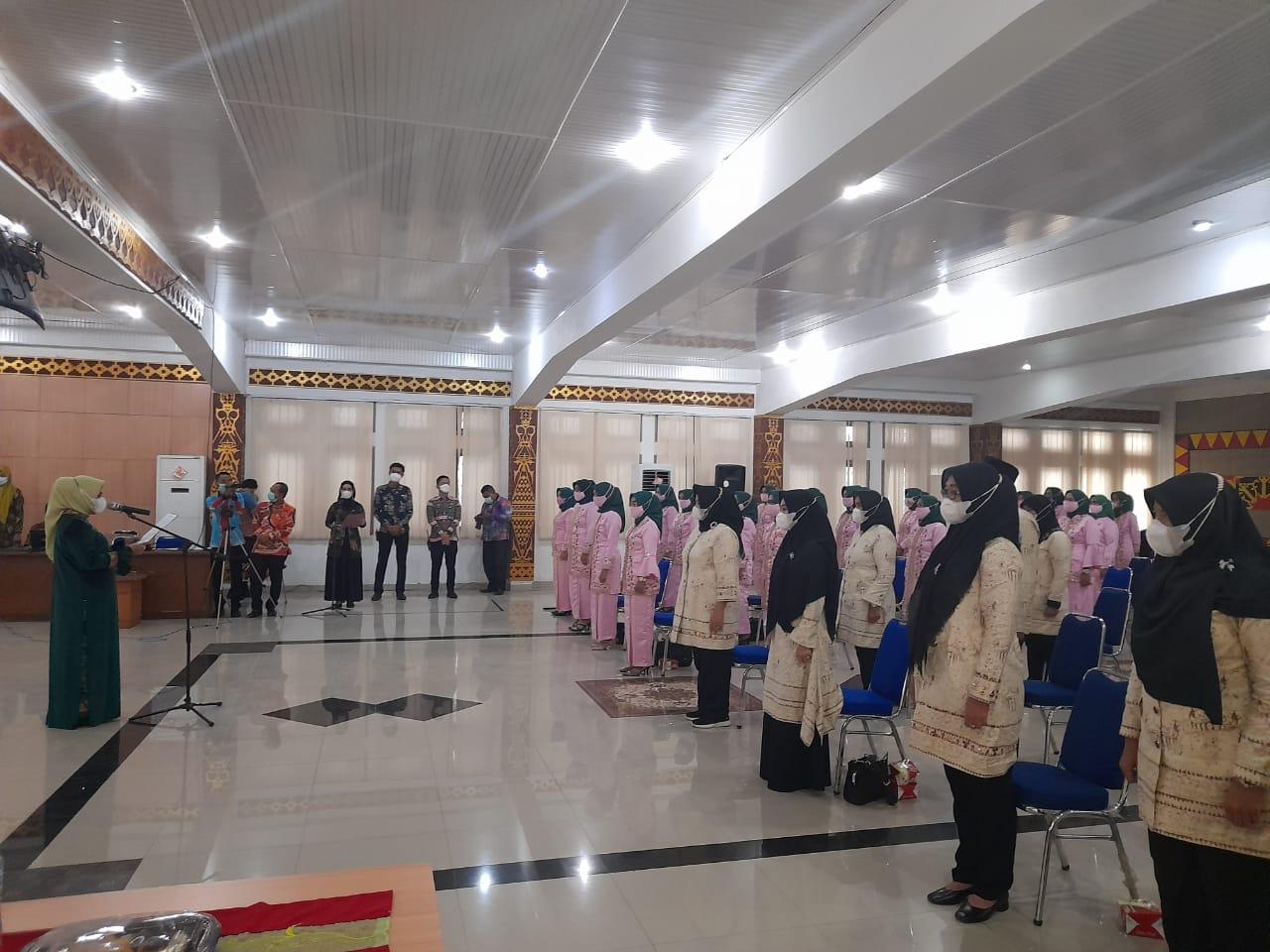 Pengurus TP PKK, PAUD dan Literasi Kecamatan Dilantik