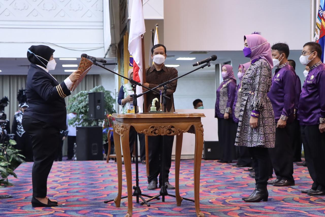 Riana Dilantik Jadi Ketua PDBI Provinsi Lampung