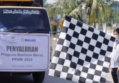 Pemprov Lampung – Perum Bulog Luncurkan Program Bantuan Beras PPKM 2021