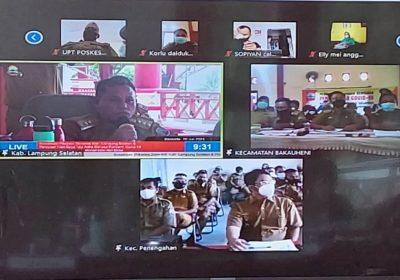 Bupati Lamsel Gelar Rapat Virtual dengan Camat dan Kepala Desa