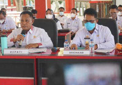 Dipandu Pihak PT SMI, Nanang Hadiri Rakor PEN Secara Virtual