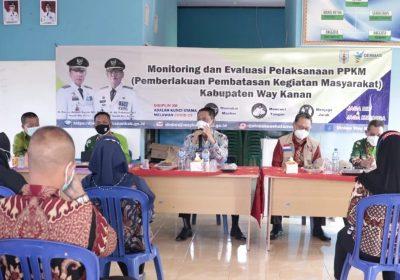 Wabup Way Kanan Tinjau Pelaksanaan PPKM Mikro di Kecamatan Gunung Labuhan